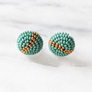 NWT Ink & Alloy Beaded Button Studs
